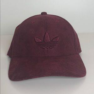 Adidas burgundy SnapBack- worn once